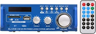 Douself 12V / 220V Mini Audio Power Amplifier BT Digital Audio Receiver AMP USB SD Slot MP3 Player FM Radio LCD Display wi...