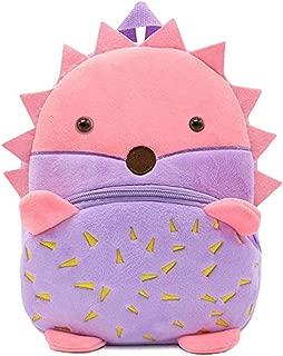 FLORICA Toddler Kids Backpacks Cartoon Cute Animal Plush Backpack Toddler Mini School Bag for Little Girls Boys Kids (Hedgehog)