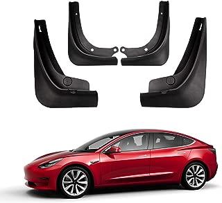 TACHICO Mud Flaps Splash Guards for Tesla Model 3, Fender Flares with Retainer Clips and Screwdriver, Set of 4, Black