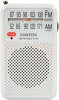 AM FM Radio, Portable Radios Battery-Powered with Antenna for Best Reception and Longest Lasting, Portable Radio with Buil...
