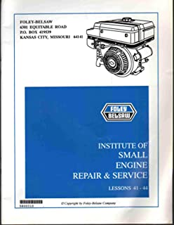 INSTITUTE OF SMALL ENGINE REPAIR & SERVICE MANUAL LESSONS 5-8 All Examination Pages Filled In. Answer Card Not Included.