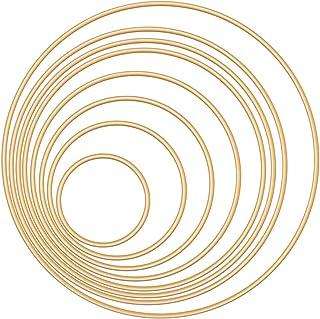 Dadabig 16 st metallringar ringar ringar ringar ringar drömfångare metallringar guld makramé ringar metallringar för gör-d...