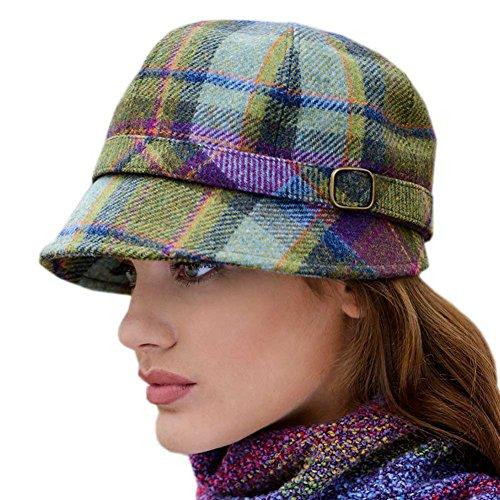 Damen Tweed Flapper-Hut, kariert, hergestellt in Irland