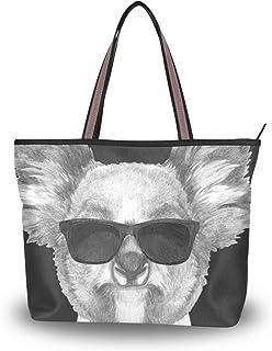 MNSRUU Große Umhängetasche Cool Koala Handtasche mit Reißverschluss Strand Taschen