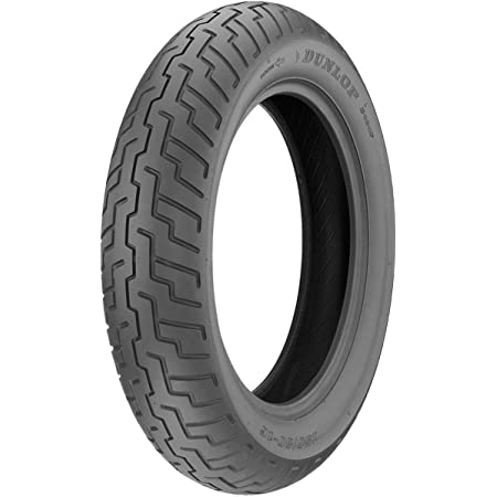 Dunlop D404 Front Motorcycle Tire 80/90-21 (48H) Black Wall - Fits: Kawasaki Vulcan Custom VN900 2006-2016