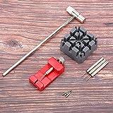 Regalo de Julio Herramienta de reparación de relojes, removedor de correas de reloj, martillo de reloj multifuncional para relojeros.