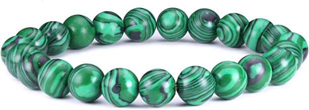 J.Fée 8mm Bracelet de Pierres Précieuses Perlées Pierre Brillante Bracelet en Cristal Bracelet de Guérison Naturelle Bracelet Cadeau Unisexe …
