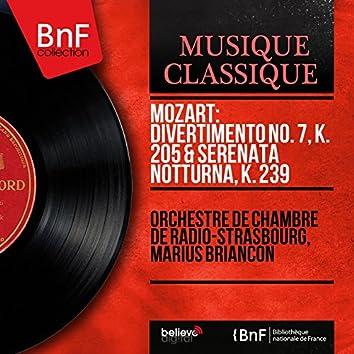 Mozart: Divertimento No. 7, K. 205 & Serenata notturna, K. 239 (Mono Version)
