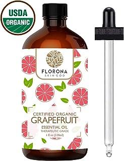 FLORONA Organic Grapefruit Oil, 4 Oz USDA Certified Organic
