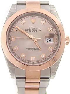 Datejust 41mm Sundust Diamond Dial Rose Gold And Steel Men's Watch 126331