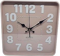Relógio de Parede Quadrado Moderno Para Decoração 25cm (Rosa)