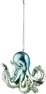 GALLERIE II Iridescent Blue Octopus Christmas Holiday Ornament