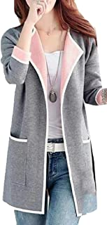 FLCH+YIGE - Chamarra para Mujer con Bolsillos para suéter