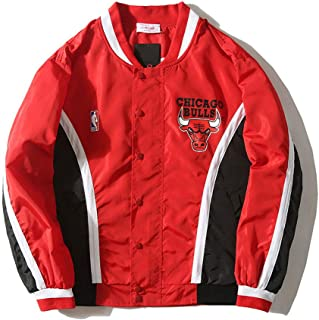Chicago Bulls Warm Up Chaqueta Retro Rojo Blanco