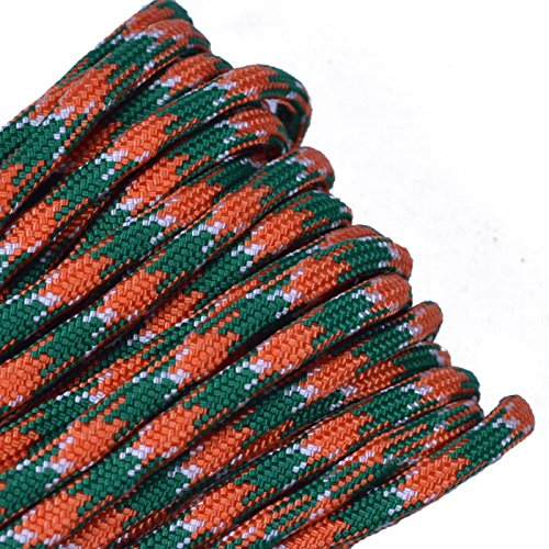 BORED? PARACORD! - 1', 10', 25', 50', 100' Hanks & 250', 1000' Spools of Parachute 550 Cord Type III 7 Strand Paracord Well Over 300 Colors - Celtic - 50 Feet
