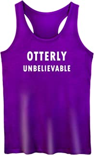 GROWYI Funny Workout Tank Top Racerback for Women with Saying Otterly Unbelievable TV Fitness Gym Sleeveless Shirt