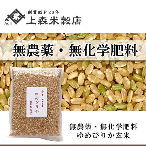 北海道産 無農薬ゆめぴりか玄米1kg