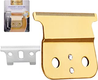 Professional T Outliner Blades Trimmers/Clippers Detailer Blade Replacement Ceramic Blades #04521 -Compatible with Cordless Andis T Outliner gtx Replacement Blade,Gold