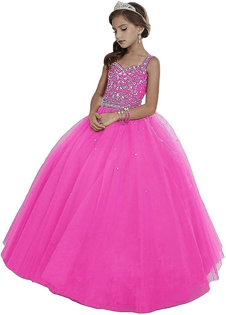 Leho Girls' Princess Beading Pageant Award-winning store Ranking TOP6 Dresses Ball Gowns