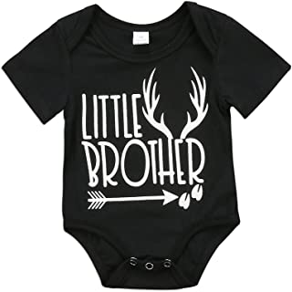 Toddler Newborn Baby Boy Sibling Shirt Set Big Brother Little Brother Deer  Romper Outfit Clothes 4b149f32d