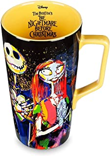 Nightmare Before Christmas 25th Anniversary Insulated Tumbler with Wrap and Black Lid 16oz Tervis 1297837 Disney Clear