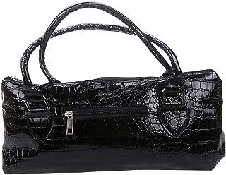 Wine Clutch, Purse Styling, Insulated, Faux Croc Pattern, Black - #L8690