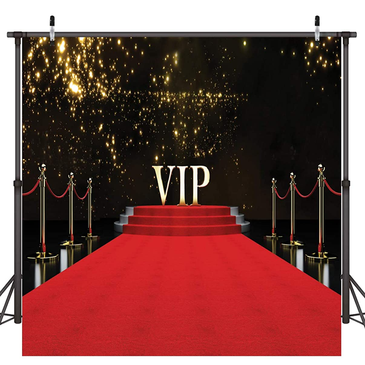 Dudaacvt 8x8ft Vinyl Photography Backdrop Stage Lighting VIP Red Carpet Background for Wedding Customized Photo Studio Props D0830808