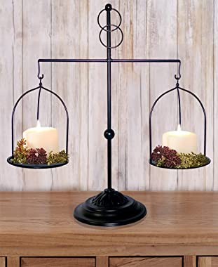 ktopnob LTD Decorative Farmhouse Scale Candleholder Vintage Antique Style Home Kitchen Wedding Table Decor