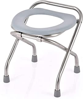 TUHFG Shower Stool Bath Seats Shower Stool Shower Chair Stainless Steel U Type Double Buckle Bath Chair Pregnant Woman Eld...