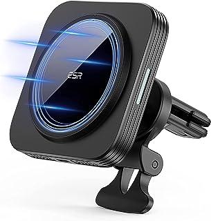 ESR HaloLock magnetische draadloze telefoonhouder autolader, compatibel met MagSafe autohouder, snellader en iPhone 13/13 ...