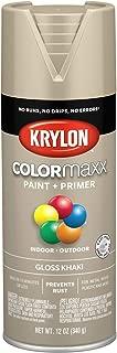 Krylon K05526007 COLORmaxx Spray Paint, Aerosol, Khaki
