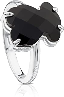TOUS Erma 925 Silver Ring with Black Onyx Bear