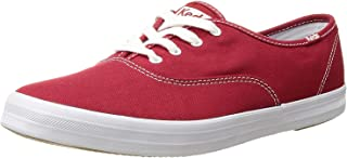Keds Women's Champion Original Canvas Lace-Up Sneaker, Red, 8 W US