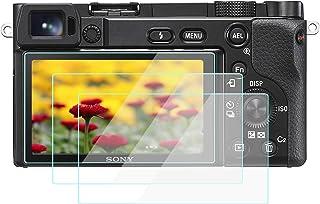 A6600 Displayschutzfolie für Sony Alpha a6600 a6400 a6300 a6100 a6000 (3 Stück), WH1916 gehärtetes Glas Schutzfolien Cover