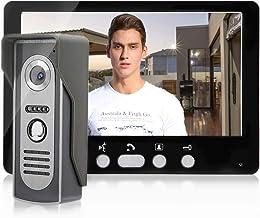 Draadloze video-deurbel, 7 inch intercomsysteem met TFT-cameramonitors, video-deurbel intercom nachtzichtsysteem, deurtoeg...