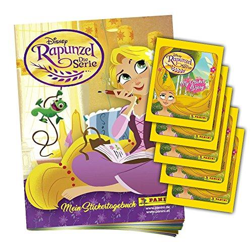 Panini - Álbum de recortes y 5 Booster de Disney's Rapunzel de la serie de Disney