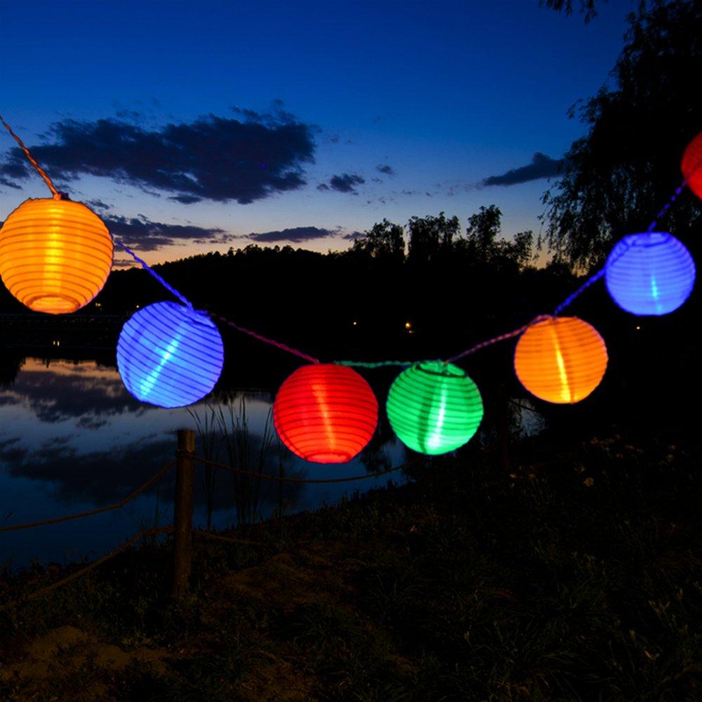 Uping Guirnalda Luminosa LED, 20 Farolillos 3.6 m, Funciona Con Pilas, Decoración Exterior y Interior para Fiesta/Boda/Ceremonia/Jardín/Casa(Multicolor): Amazon.es: Iluminación