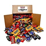 CANDYMAN Bundle of Chocolate Candy (5.6 lbs) Variety Pack Hersheys Nestles Reese's Snickers York Peppermint Almond Joy M&Ms Peanut and Milk Chocolate, 100 Grand Bars, Milky Way