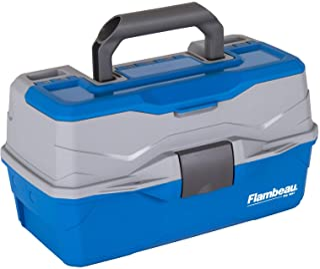 Flambeau Outdoors 6382TB 2-Tray - Classic Tray Tackle Box - Blue/Gray