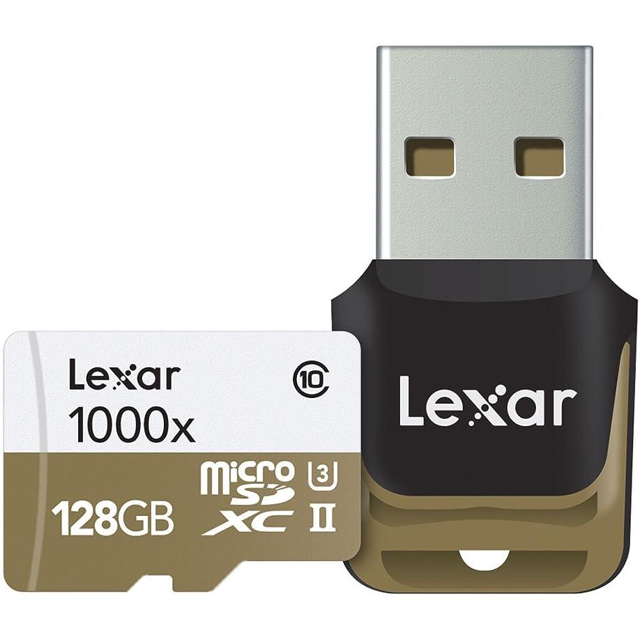 ビスケット道に迷いましたコンチネンタルレキサーLSDMI128CBEU1000Rプロフェッショナルクラス10 1000倍速マイクロSDHC UHS-IIメモリーカード(USBカードリーダー付き)128 GB