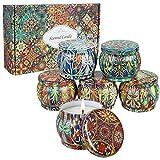 Velas Perfumadas de Regalo juego de 6 Pack, Velas Aromaticas para Cumpleaños, Día de La Madre, Día de San Valentín, Navidad