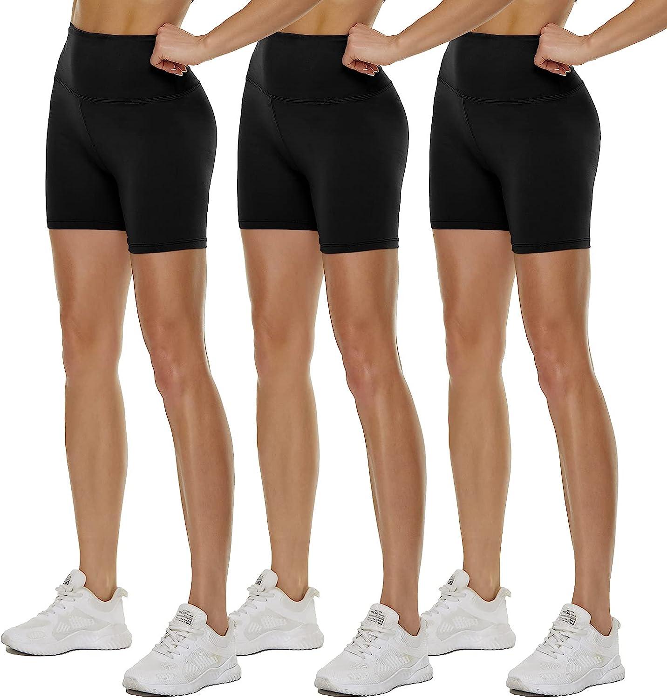 Quantity limited QGGQDD 3 Pack High Waisted Biker 5 ☆ popular Women for Shorts Butt – 5
