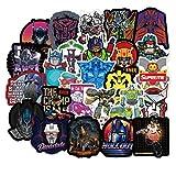 Later Transformers Optimus Prime Megatron - Pegatinas para maleta, 50 unidades