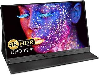 モバイルモニター EVICIV 15.6インチ モバイルディスプレイ 4K Adobe100%色域 HDR 薄型 IPSパネル USB Type-C/標準HD/mini DP スリーブケース付 EVC-1504