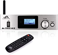 DTS 5.1 Dolby Digital Audio System Decoder Separator with 5.0 Bluetooth Receive Supports HDMI 3 in 1 Out 4K×2K 3D Video,Coaxial,Optical Fiber,AUX,U Disk Play,PC USB Input,for Home Theater Music Game