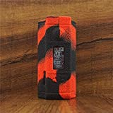 ModShield for Dovpo Topside Dual 200W Squonk Silicone Case ByJojo Protective Cover Shield Sleeve Skin Wrap (Red/Black)
