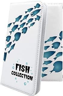 X02HT ケース 手帳型 魚 釣り フィッシング ハワイアン ハワイ 夏 海 エックスエイチティー 手帳型ケース 動物 動物柄 アニマル どうぶつ x01 ht デザイン イラスト
