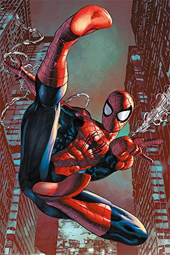 Up Close Poster Spiderman Comic - Web Slinger (61cm x 91,5cm) + 2 tringles Transparentes avec Suspension