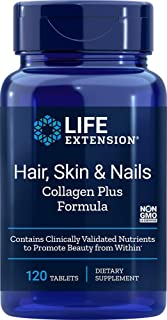 Life extension Hair, Skin, & Nails- Collagen Plus, 120 Tablets