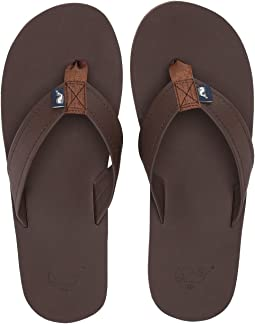 80c01f5c5bb574 541. Vineyard Vines. Leather Flip Flops
